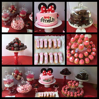 Minnie mouse sweets table