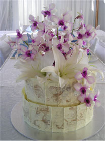 Birthday Cake With Real Flowers Image Inspiration of Cake and