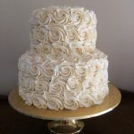2 tier rose swirl cake - Copy