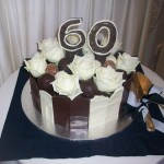 60th truffle cake