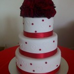 Amy's red rose cake