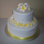 Angie's yellow fragipanni cake