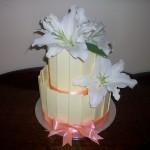 Apricot & Lilies