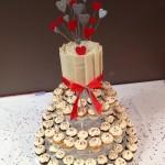 April and travis engagement mini cupcakes