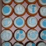 Baby blue boy cupcakes