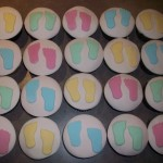 Baby feet cupcakes