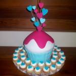 Big cupcake & mini