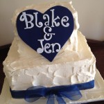 Blake and Jens Engagement cake