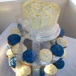 Blue, White & Silver Cupcakes