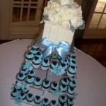 Blue & black mini cupcakes