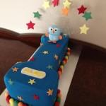 Blue hoot cake