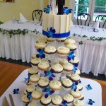Blue orchid cupcakes at the old church Mt Tamborine