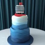 Boat themed wedding cake