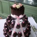 Brown & Pink heart cupcakes