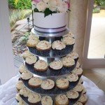 Charcoal and pink cupcakes at Tamborine Gardens