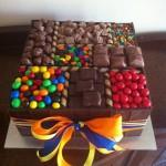 Choc allsorts cake
