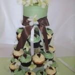 Chocolate Brown & Pistachio Cupcakes