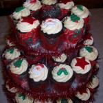 Christmas gluten free cupcakes