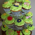 Close up spriing themed cupcakes