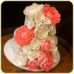 Coral and Ivory peonies