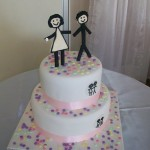 Cute stick figure cake