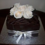 Dark choc & cream roses