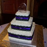 Deanne's black lace and purple ribbon and bling buckle