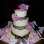 Ella's fresh buttercream cake and roses