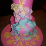 Funky flower princess cake