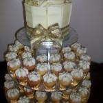 Gold & Silver Mini Cupcakes