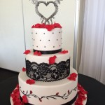 Gothic inspired wedding cake