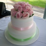 Green & pink ribbon
