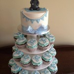 Hunter's christening cupcakes