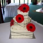 Jess's red gerbera cake