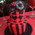 Julies 40th madhatter cake