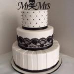 Kasey's black and white  cake