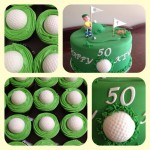 Kev's golf cupcakes
