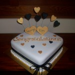 Kim's engagement cake