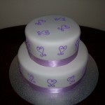 Lavender Piped Hearts