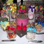 Lollipop cake and lolly buffet