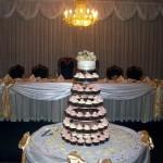 Mocha, cream & Dusky pink cupcakes