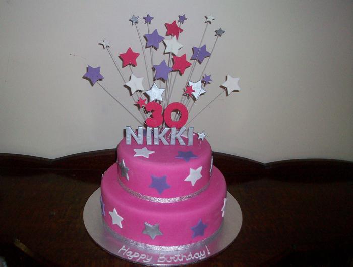 Birthday Cake Images With Name Nikki : Nikki 30th