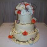 Orange, purple cream flowers and dooda vine