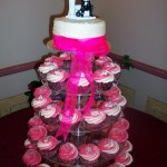 Pink & cream swirl cupcakes