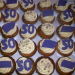 Purple 50th cupcakes