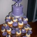 Purple Funky Flower Cupcakes