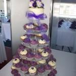 Purple Heart Cupcakes