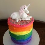 Rainbow unicorn cake - Copy