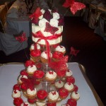 Red & White Butterfly Cupcakes