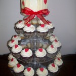 Red love heart cupcakes